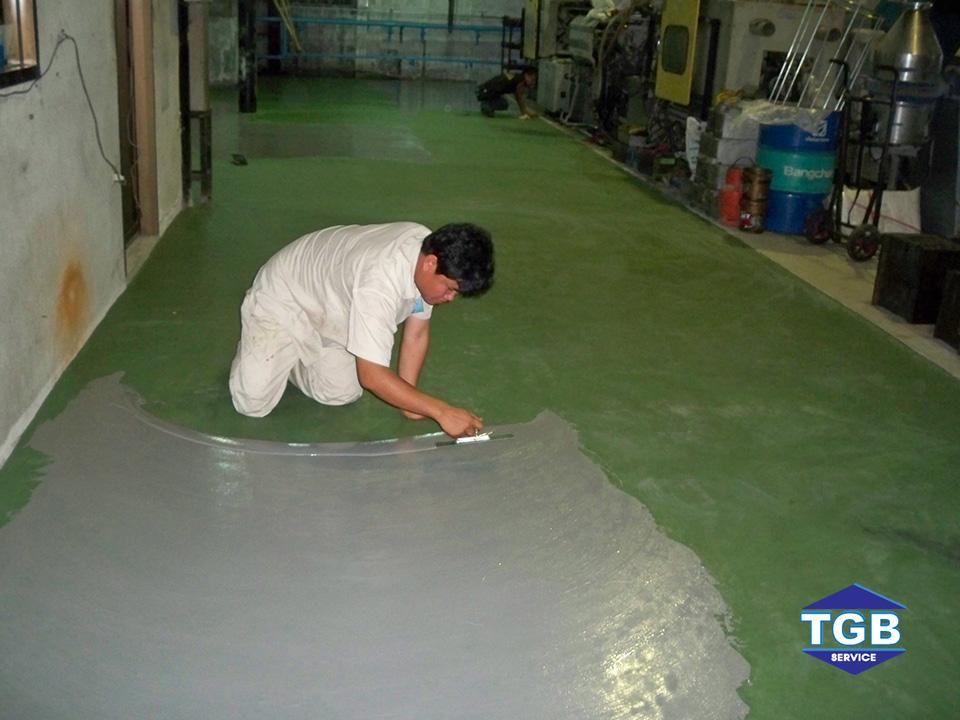 งานซ่อมแซมและปรับปรุงพื้นด้วยระบบ Pu – Crete